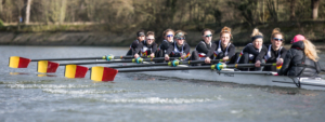 Womens rowing at Tideway Scullers School