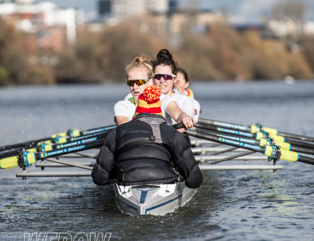 The Tideways Scullers women's squad seat racing for WEHORR 2018 video & images