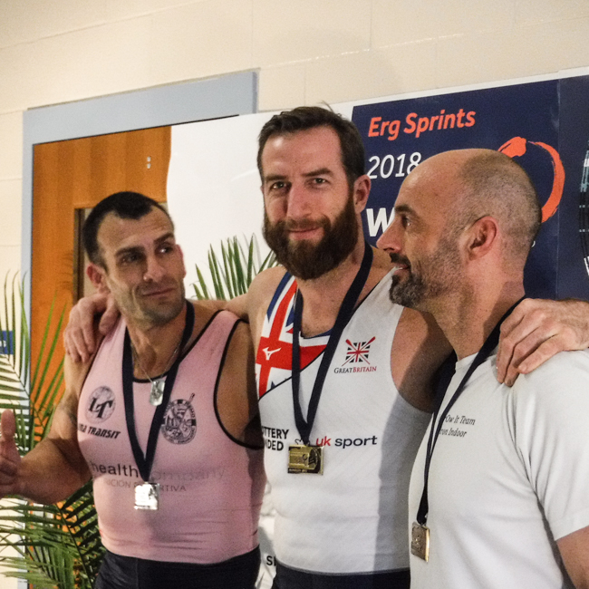 Graham Benton collects Gold at the World Indoor Rowing Championships 2018