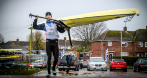 Leander Club rower Angus Groom at GB Trials