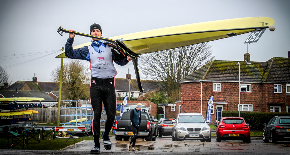 Leander Club rower Angus Groom boating at the GB Third Assessment