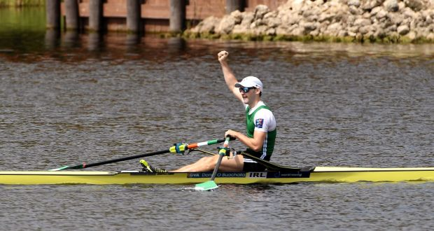 Paul O'Donovan at the New Zealand Rowing Championships