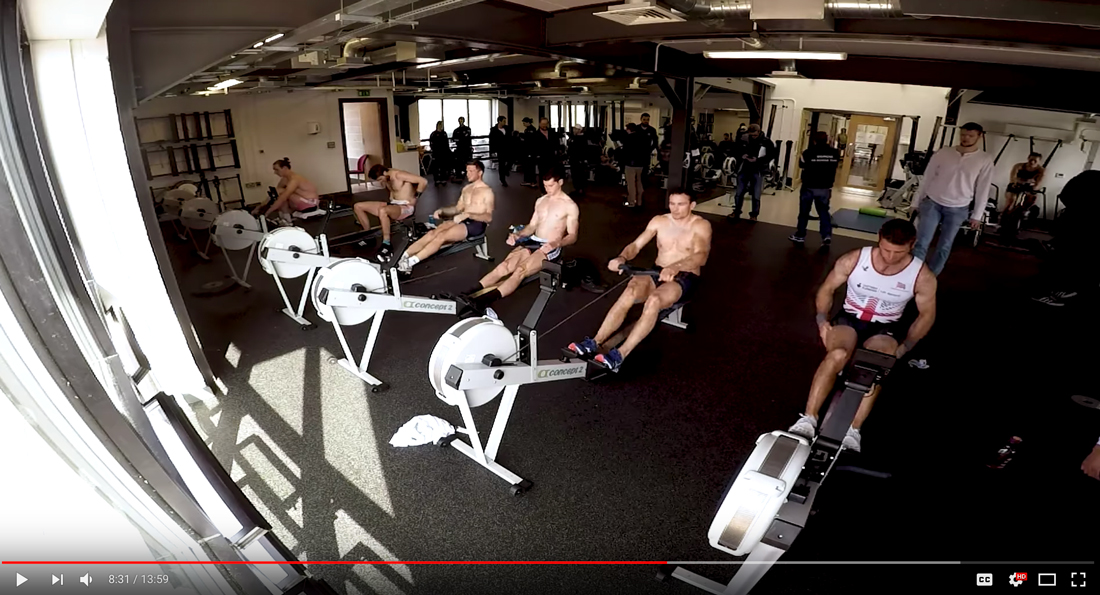 2k erg test at Caversham with Josh Bugajski