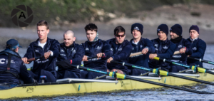 The Oxford University Boat race crew on the Tideway Tuesday, March 20