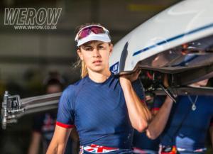 Ellie Piggott at Caversham in the lightweight women's quad