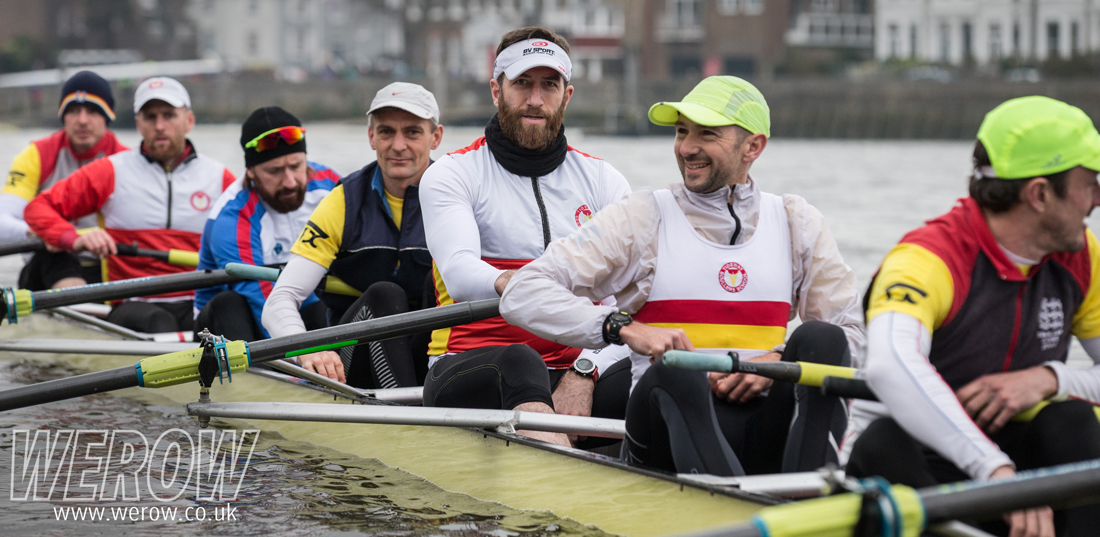 Bradley Wiggins and Graham Benton rowing for Tideway Scullers School at the Vets Head