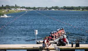 National Schools Regatta windy rowing lanes at Dorney Lake WEROW