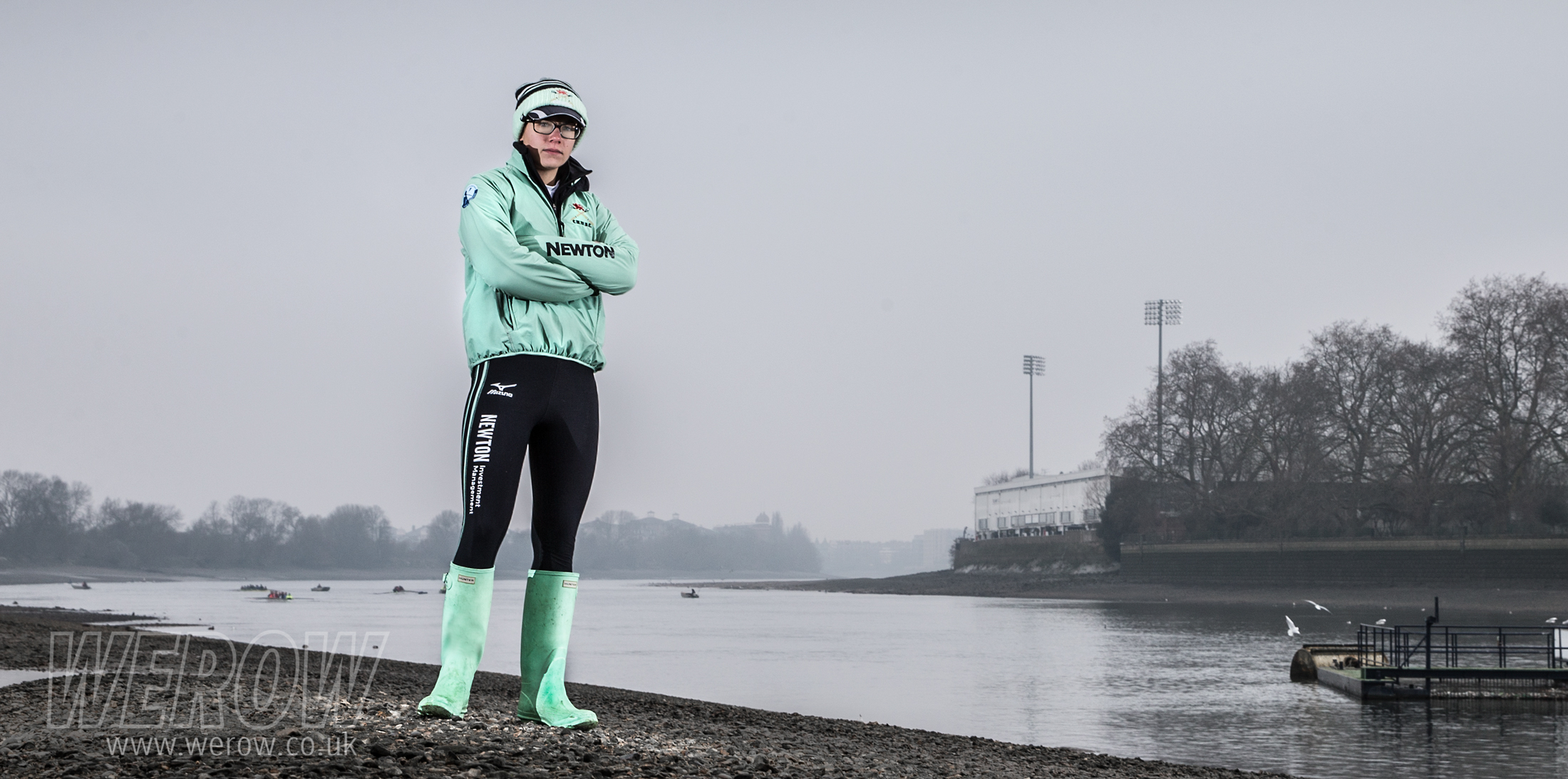 Sophie Shapter on the Tideway before the Boat Race