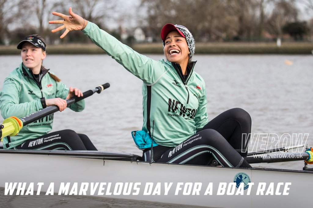The Boat Race 2018, Cambridge President, Daphne Martschenko boating at Putney
