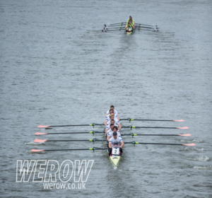 Leander and Oxford Brookes battle it out on the Tideway