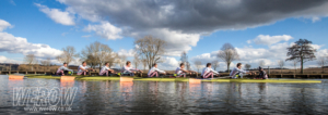 Leander practice at Henley on Thames for the Head of the River 2018