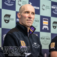 Sean Bowden of OUBC at the Boat Race press conference