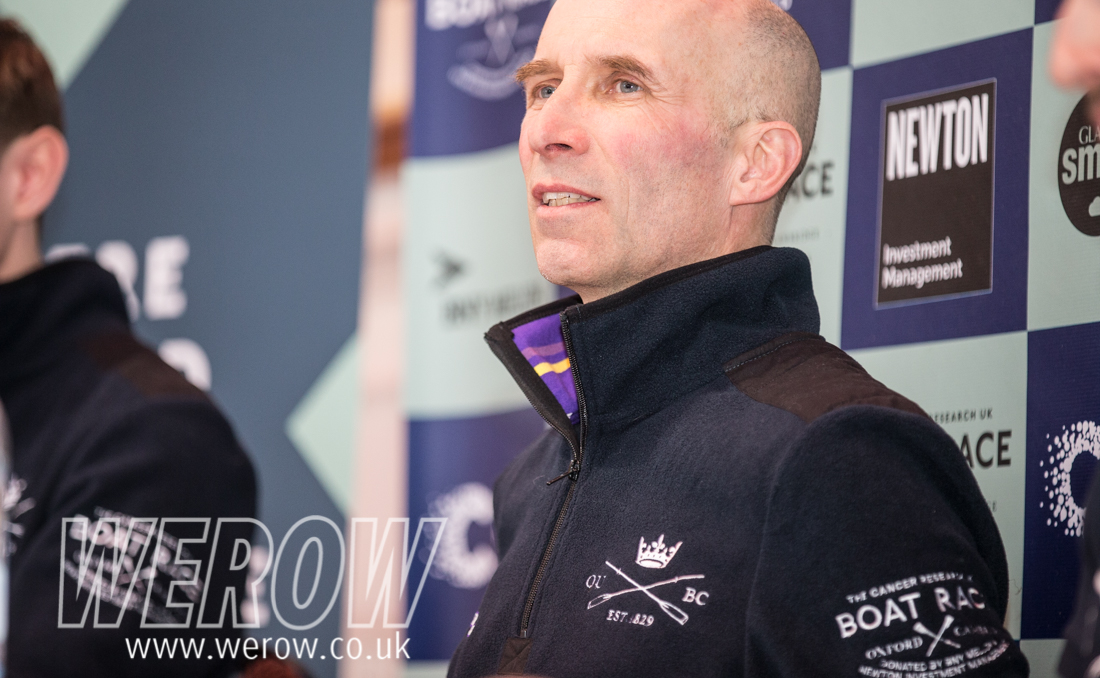Sean Bowden at the Boat Race press conference 2018