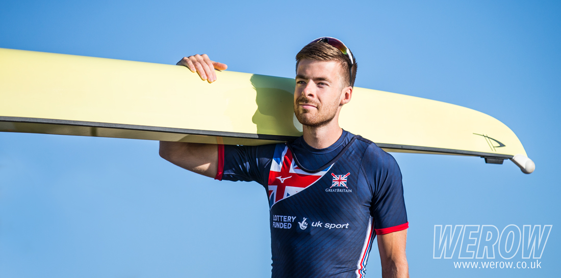 Joel Cassells at GB Rowing, Caversham in 2017