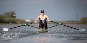 Vioctoria Thornley sculling at GB Trials 2018