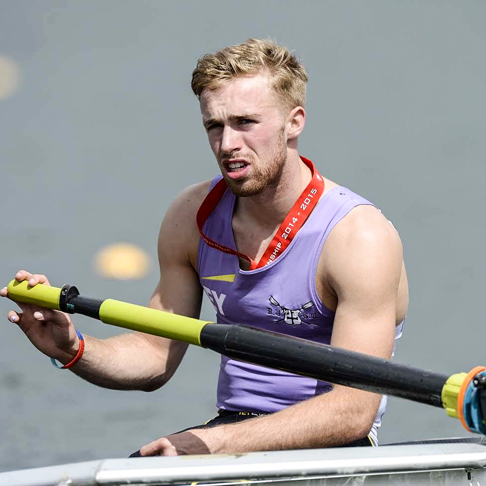 Finn Abberton of Durham University Boat Club