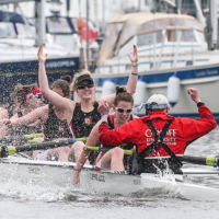Cardiff University women win the Welsh Boat Race 2018