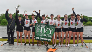 Hannah Scott and the winning Princeton crew