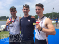 Jake Offiler and James Cartwright at the European Rowing Championships 2018 WEROW - Cartwright and Offiler take gold in tense European Rowing Junior Championships final