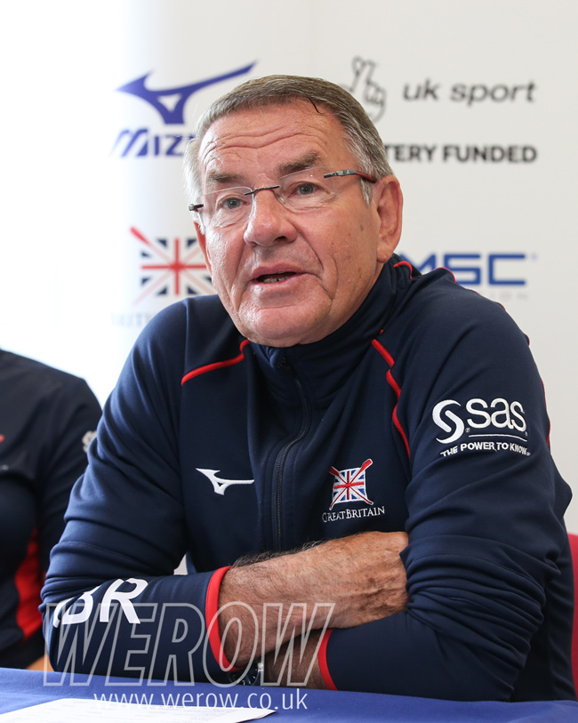 Head Coach Jurgen Grobler at the British Rowing press day for World Rowing Cup 1