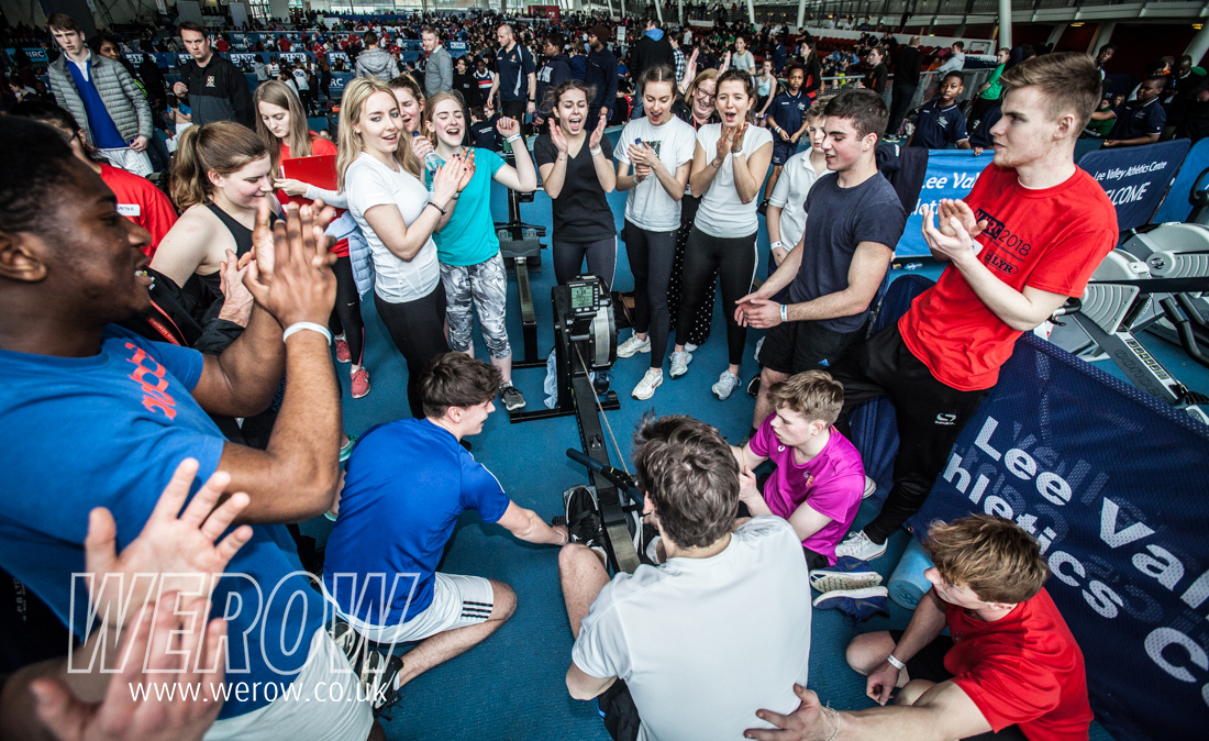 National Junior Indoor Rowing Championships with Concept 2 and London Youth Rowing