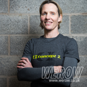Sarah Gibbs, indoor rowing champion and record holder