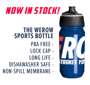 The WEROW sports water bottle is now in stock