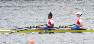 Carlotta Nwajide and Franziska Kampmann of Germany at Essen Regatta