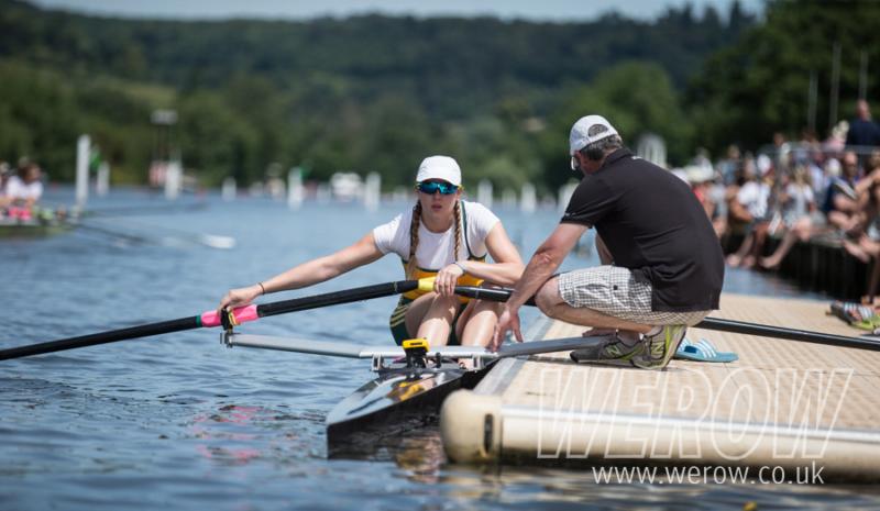 Cara Grzeskowiak of Capital Lakes Rowing Club at Henley Women's Regatta
