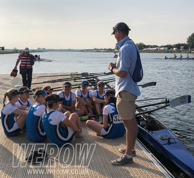 Ryan Demaine and Headington School Oxford girls at NSR 2018