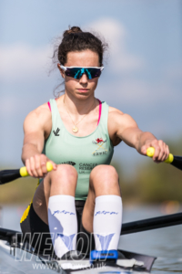 Imogen Grant at the GB final assessment weekend in April 2018