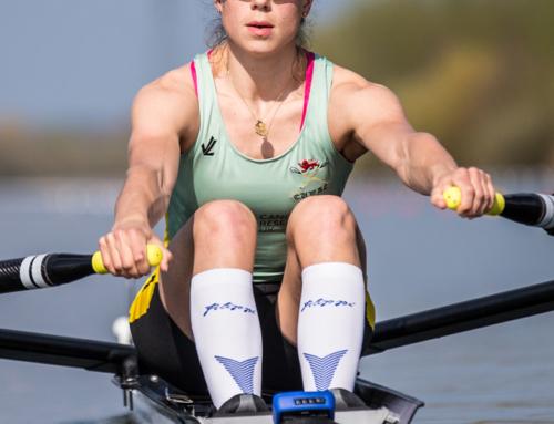 Imogen Grant on her way to  Henley Women's Regatta via Belgrade