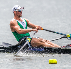 Robbie Manson , Wairau Rowing Club winner of the mens premier single