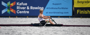 Oliver Zeidler of Germany at Rowing World Cup 1 in Belgrade