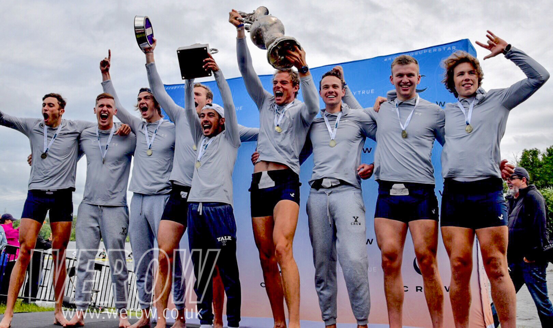 Yale win the IRA Championships 2018 with 5 British rowers