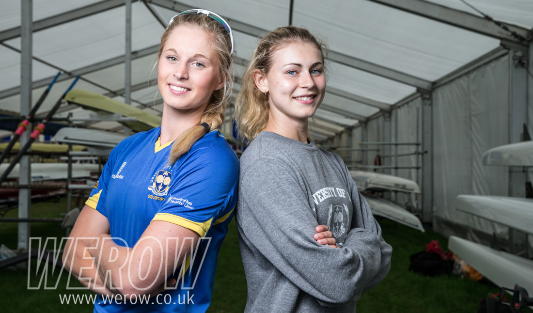 Steph Clutterbuck & Laura Macro of Bath University at Henley Royal Regatta Qualifiers in June 2017