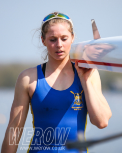 Steph Clutterbuck of Bath University at GB Rowing final trials