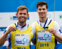 Jack Beaumont and Angus Groom win gold at World Cup 2 in Linz (Naomi Baker)