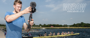 Cameron Buchan filming at National Schools Regatta