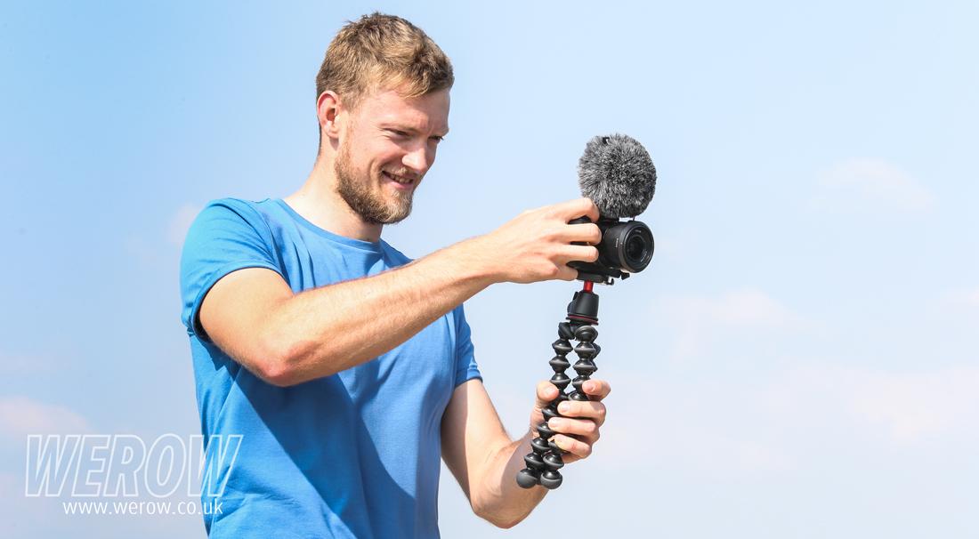 Cameron Buchan filming at National Schools Regatta