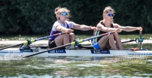 Charlotte Hodgkins-Byrne and Anna Thornton winning at Henley Royal Regatta 2018