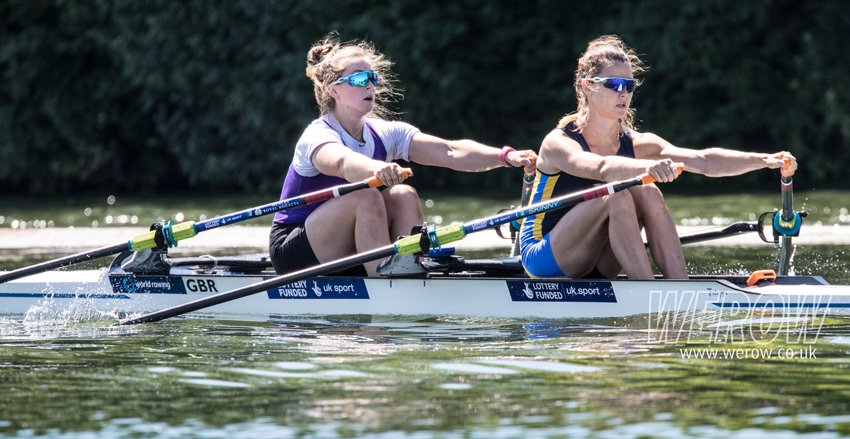Charlotte Hodgkins-Byrne and Anna Thornton winning at Henley Royal Regatta 2018
