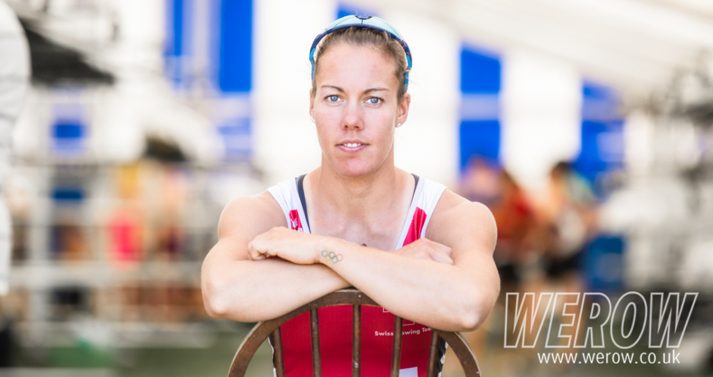 Jeannine Gmelin, fifth at the Rio Olympics, in the Henley Boat Tents this week