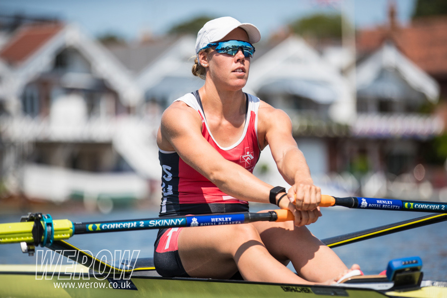 Swiss sculler Jeannine Gmelin at Henley Royal Regatta 2018