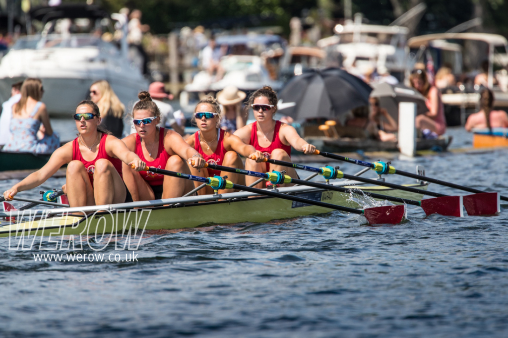 Marlow Rowing Club quad at Henley Royal Regatta 2018