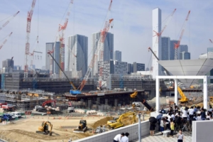 The Olympic Village in Tokyo with 104 weeks to go until the opening ceremony