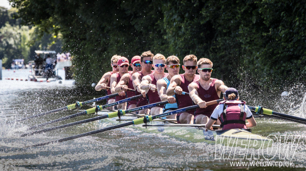 Oxford Brookes and Edinburgh University in the Temple at Henley Royal Regatta