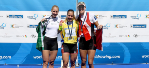 Sanita Puspure collects silver at the World Rowing Cup III in Lucerne