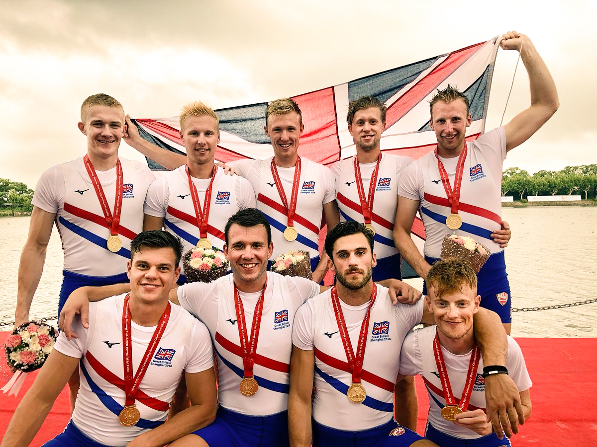 The GB Men's eight at FISU World University Rowing Championships 2018