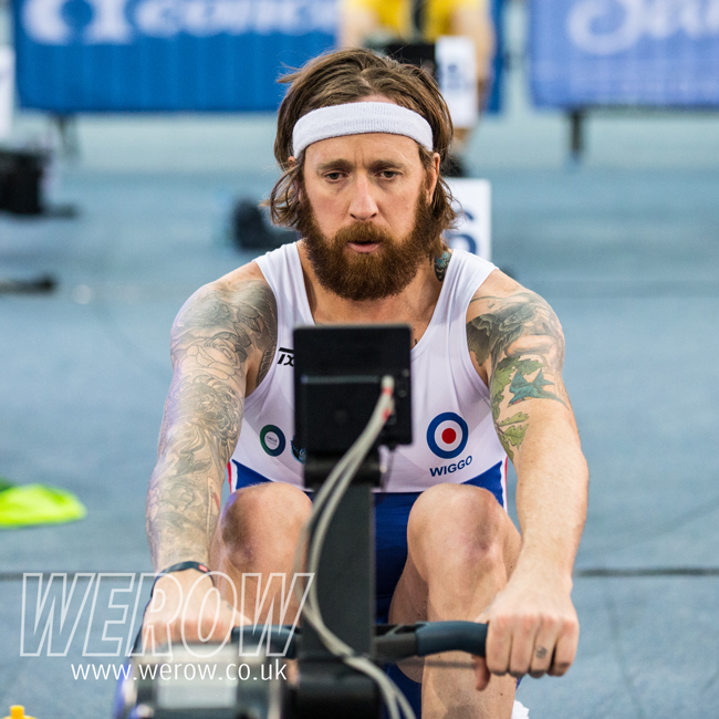 Bradley Wiggins at the British Indoor Rowing Championships 2017